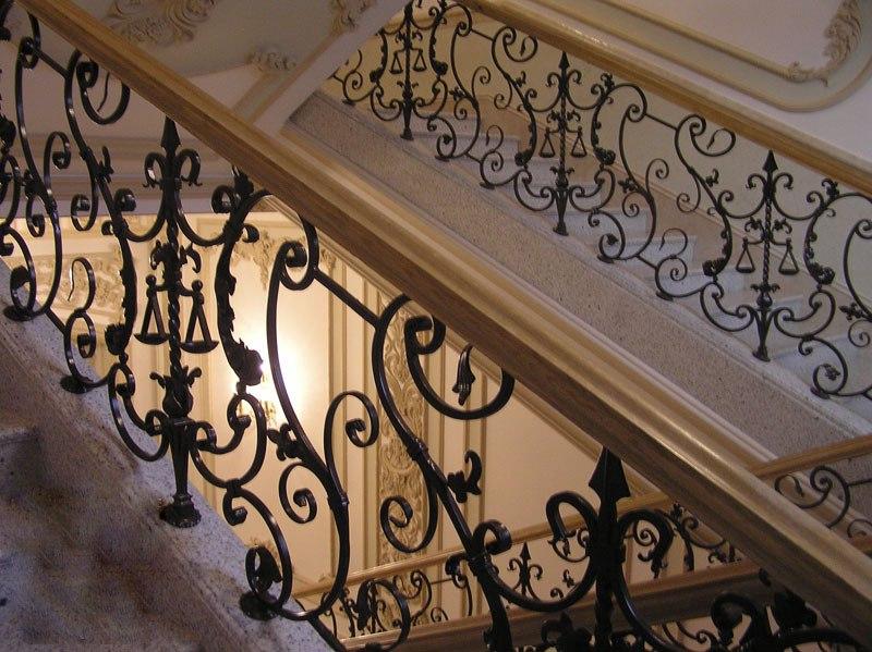 Кованые перила для лестниц | Sofa.od.ua