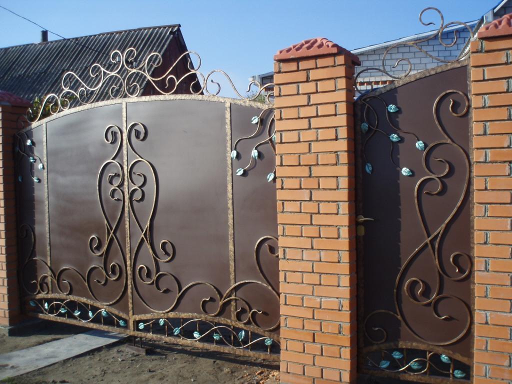 Кованые ворота и калитки | Sofa.od.ua